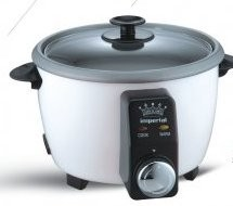 Imperial 8 Cup Rice Cooker with Timer, Includes Recipe book