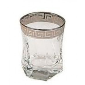 2249S marigold houseware silver rim shot glasses