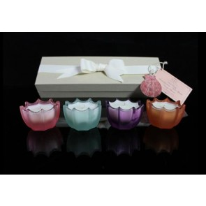 Marigold Houseware D.L. & Co 4 Mini Scallops Scented Candles Gift Set