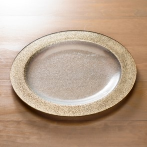 Gold Rim Round Dinnerware, Large