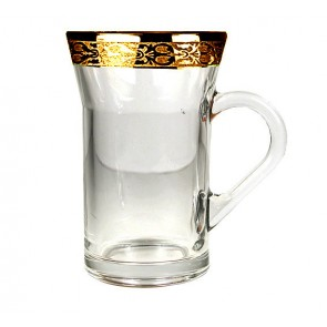 Gold Rim  PersianTea Glasses/Coffee Mugs Set of 6 | Persian Tea Glasses Los Angeles