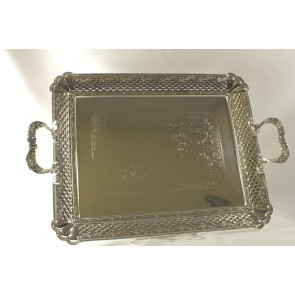 Silver plated Heart Design Tray