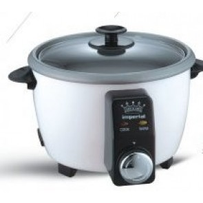 Imperial 12 Cup Rice Cooker with Timer, Includes Recipe book