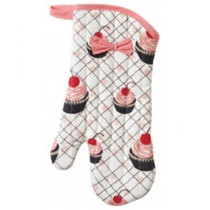 Jessie Steele Cherry Cupcake Oven Mitt with a Bow   Los Angeles