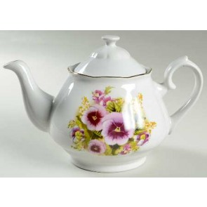 Lynns Pansies Purple Flower Teapot | Los Angeles