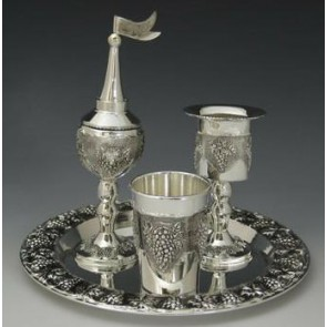 Marigold Houseware Grapes Havdalah Set 4 piece
