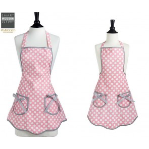 Mommy & Me Pink Polka Aprons Set | Apron Gift Set | Mother Daughter Apron Set | Los Angeles, CA