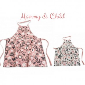 Floral Pink & White Mommy & Me Apron Set | Los Angeles