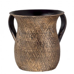 Antique Design Washing Cup |Gold Washing Cup | Netilat | Judaica Gifts Los Angeles