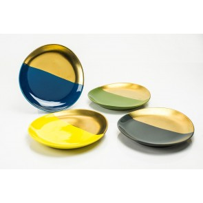 Desert Gold Dessert Plates Gift Set, Set of 4