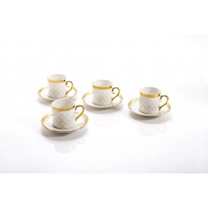Yedi Quilted Collection Gold Espresso set for 4