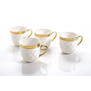 Yedi Quilted Collection Mugs Set of 4