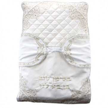 Brit Milah Pillow Los Angeles with Gold Embroidery