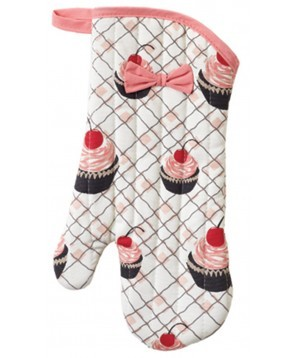 Jessie Steele Cherry Cupcake Oven Mitt with a Bow | Los Angeles