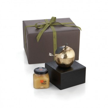 Shop Michael Aram Apple Honey Pot Kosher Gift Set