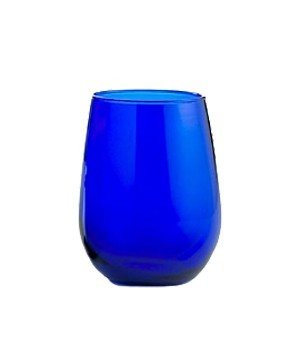 Libbey Cobalt Blue 17 Oz Stemless Wineglasses