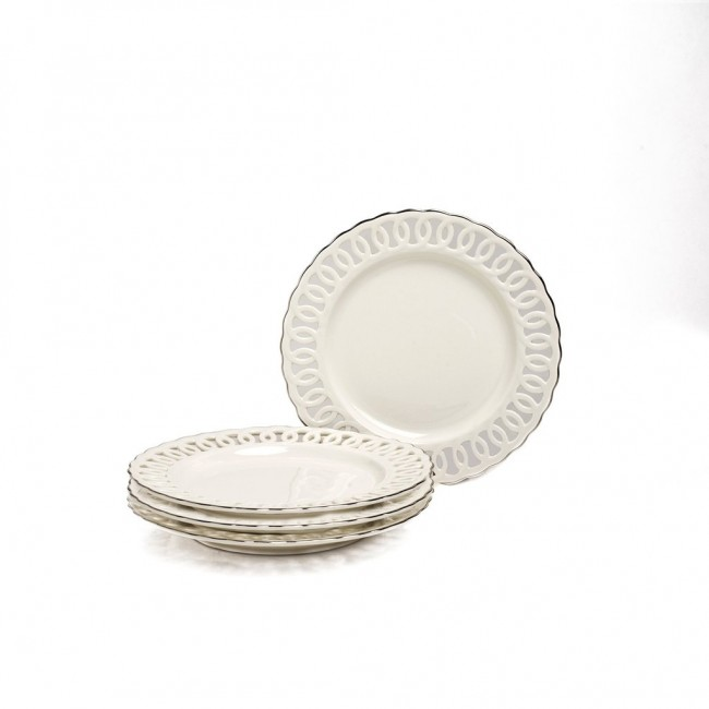 Nicolette Collection Dessert Plate Set  sc 1 st  Marigold Houseware & Shop Nicolette Collection Dessert Plates Side Plate | Los Angeles ...