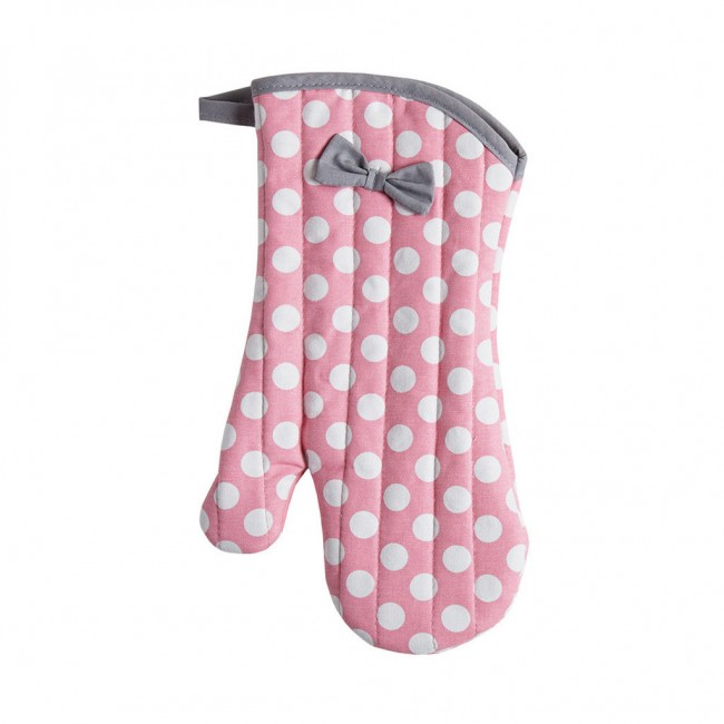 Rosy Pink Polka Dot Oven Mitt Y As Accessories
