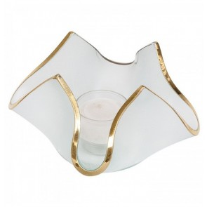 Handkerchief Votive Frosted with Gold
