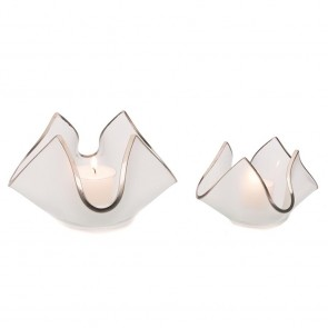Handkerchief Votive Frosted with Platinum