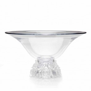 Bella Rose Crystal Bowl by Ceska, 14 inch