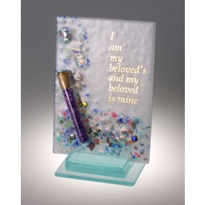 Beloved Multi Color Collage with Wedding Shards Tube Plaque