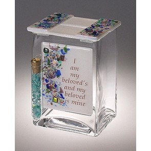 Beloved Tzedakah Box with Tube for Wedding Glass Shards