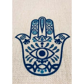 Blue Eyed Hamsa Table Linen