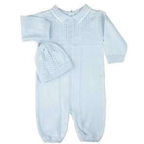 Shop Baby Boys Bris Coverall Romper, Blue