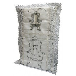 Bris Pillow with Embroidered Bris Chair and Hebrew Text | Brit MIlah Pillow Los Angeles