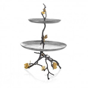 Shop Michael Aram Butterfly Ginkgo 2 Tier Etagere