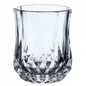 Diamond Design Double Old Fashion Glass