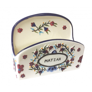 Floral Matzah Holder for Passover