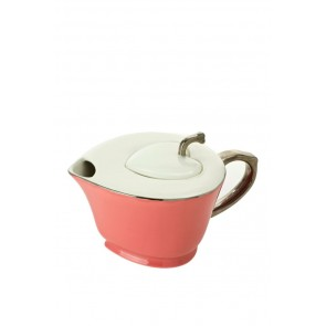 Classic Coffee & Tea Inside Out Heart Teapot -Pink  Valentine's Day Gift   Tea pot Los Angeles