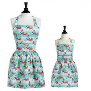 Mommy & Me Nautical Waves Viola Aprons | Jessie Steele Hostess Aprons
