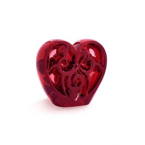 Lalique Elton John Music is Love Heart, Red | Los Angeles