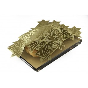 Laser Cut Challah Cover, Gold