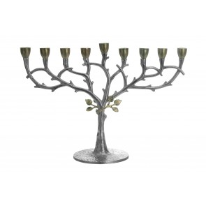 Leaf Design Chanukah Menorah