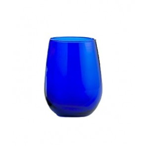 Marigold Houseware Libbey Cobalt Blue 17 oz Stemless Wine Glasses