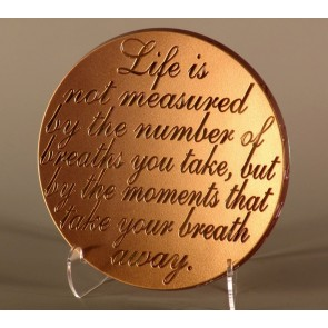 Life's Measure Platter with 24K Gold, Multiple Sizes