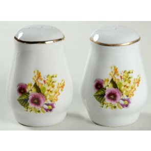 Lynns Spring Pansies Salt and Pepper Shaker Set (2)