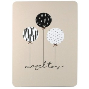 Mazel Tov Balloon Design Greeting Card