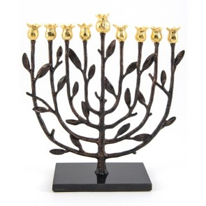 Shop Michael Aram Pomegranate Kosher Hannuakh Menorah