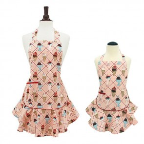 Mommy & Me Cherry Sundaes Child's Josephine Aprons Set | Jessie Steele Hostess Apron