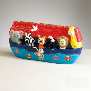 Noah's Ark Ceramic Chanukah Menorah