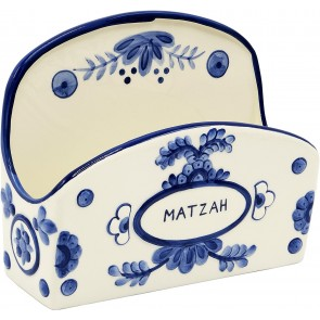Blue Matzah Holder, Delft Design