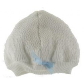 Baby Boy Heirloom Knit Blue Beanie