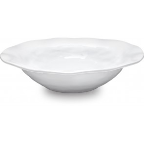 Ruffle Round Shallow Melamine Serving Bowl