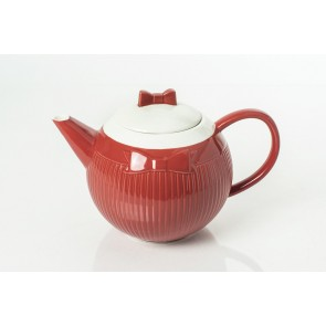 Red Cravat 40 oz Teapot | Teapot with Red Bow | Valentine's Day Gift Guide