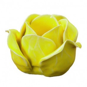 Rosebud T-light holders yellow
